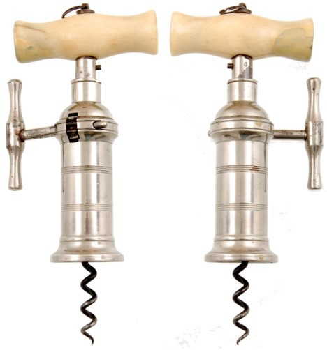 London Rack Corkscrew with nickel plated barrel