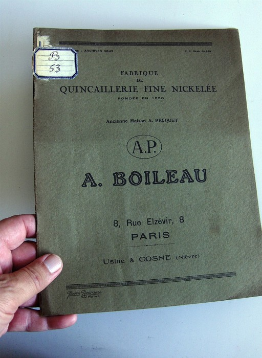 "Old French Corkscrew Catalogue AP ""A. BOILEAU"""