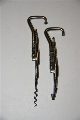 Ellis Collection - Pair of Folding Boot Hooks with Corkscrew