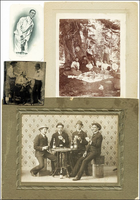 4 Early Images of Corkscrews in Use...3 Photos + 1