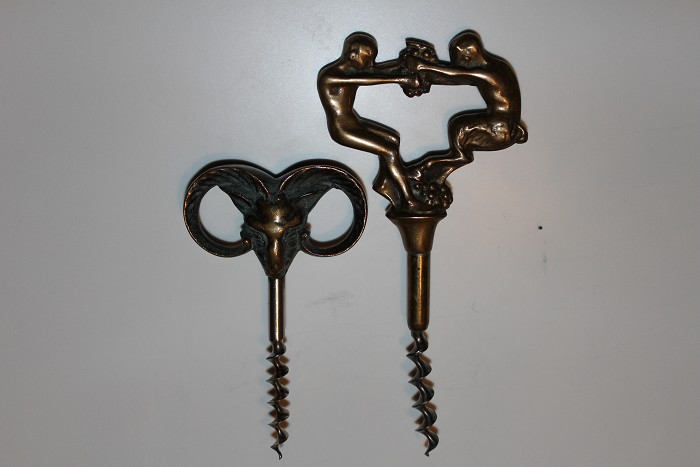 Two figural corkscrews from Denmark.