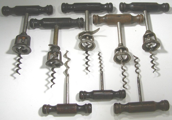 Collection of Eight Classic Williamson Corkscrews (Marked)