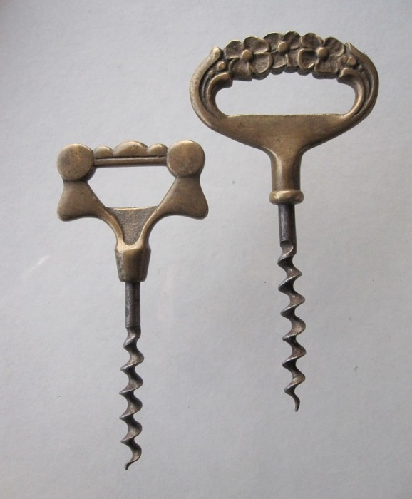 Two Scandinavian Arts & Crafts Brass Corkscrews
