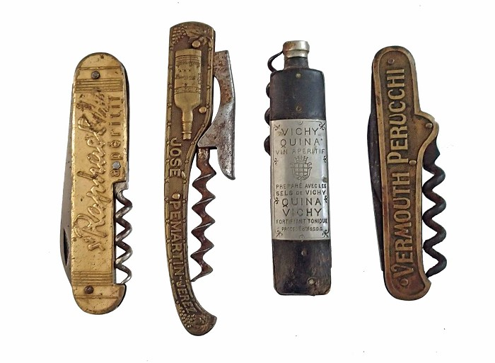 Four Pocket Knives with Advertising