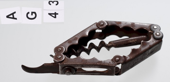 German Hollweg Style Corkscrew with Sliding Foil Cutter