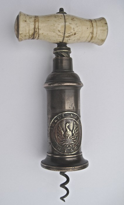 Rare Thomason Trade Mark Badge Corkscrew