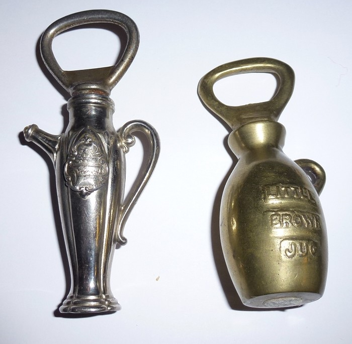 2 Figural Corkscrews, Brass Jug, Metal Coffee Pot...Niagara