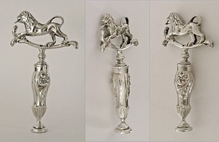 Dutch early 19th century silver corkscrew