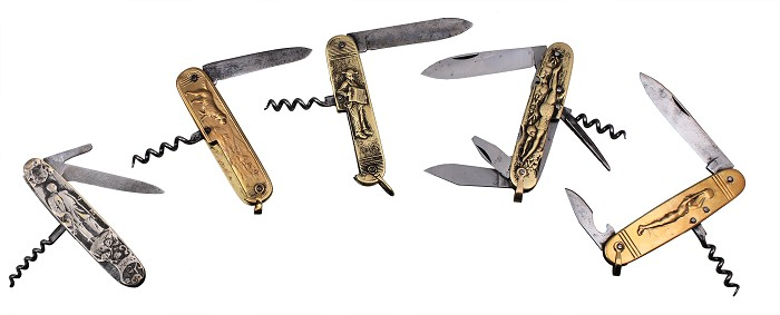 Five Pocketknives with Corkscrew