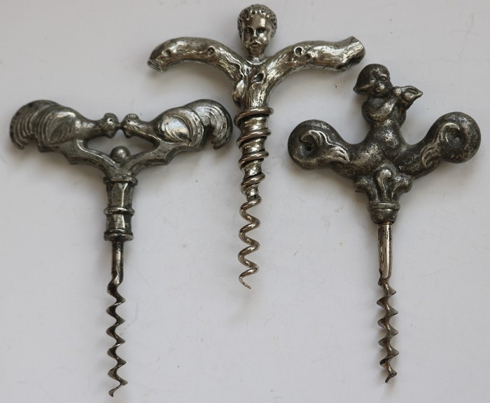 Collection of Three Different Scandinavian Corkscrews